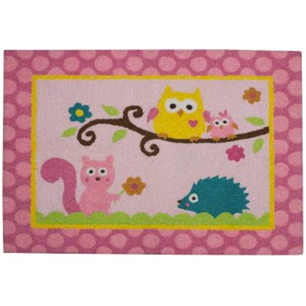 Kids Pink Animal Rug