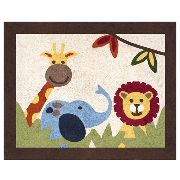 Elephant, Lion and Giraffe Rug - Elephant, Lion And Giraffe Rug 30in. X 36in.
